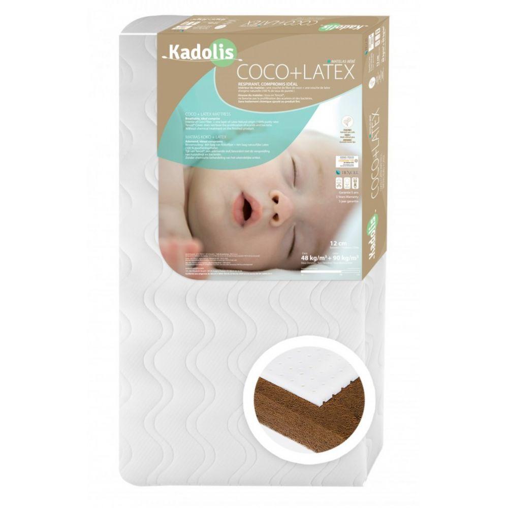 Matelas bébé coco latex 60x120 Kadolis  Produits