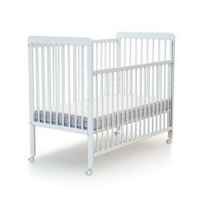 Lit bébé coulissant hêtre blanc AT4  Accueil