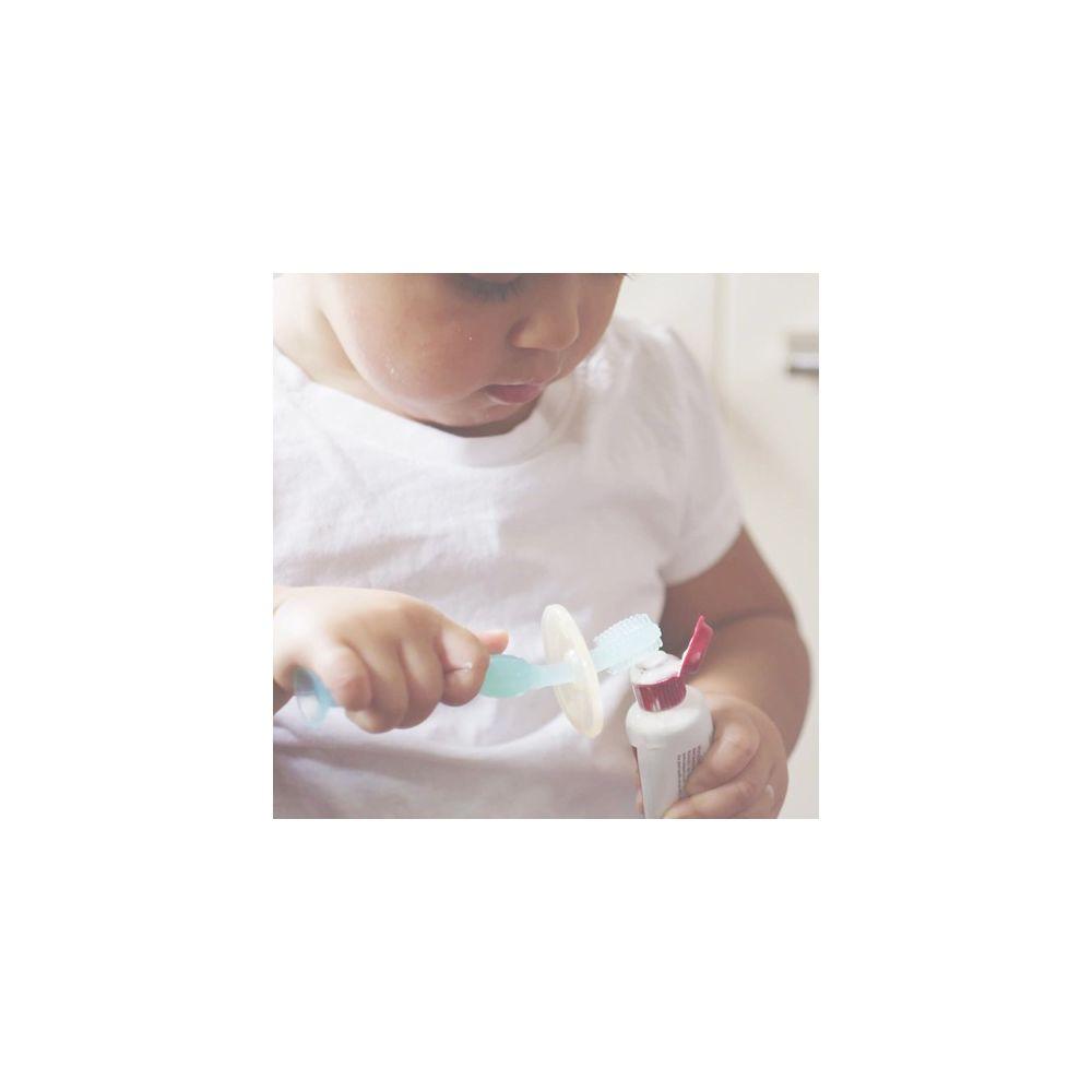 Brosse à dent silicone bleu Haakaa (l'unité)  Produits