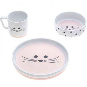 Coffret repas en porcelaine souris Little Chums 3 pièces Lässig  Accueil