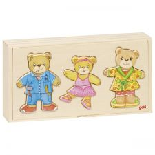 Famille ours à habiller boîte-puzzle Goki  Produits