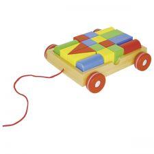 Chariot à tirer avec 18 éléments de construction Goki  Produits