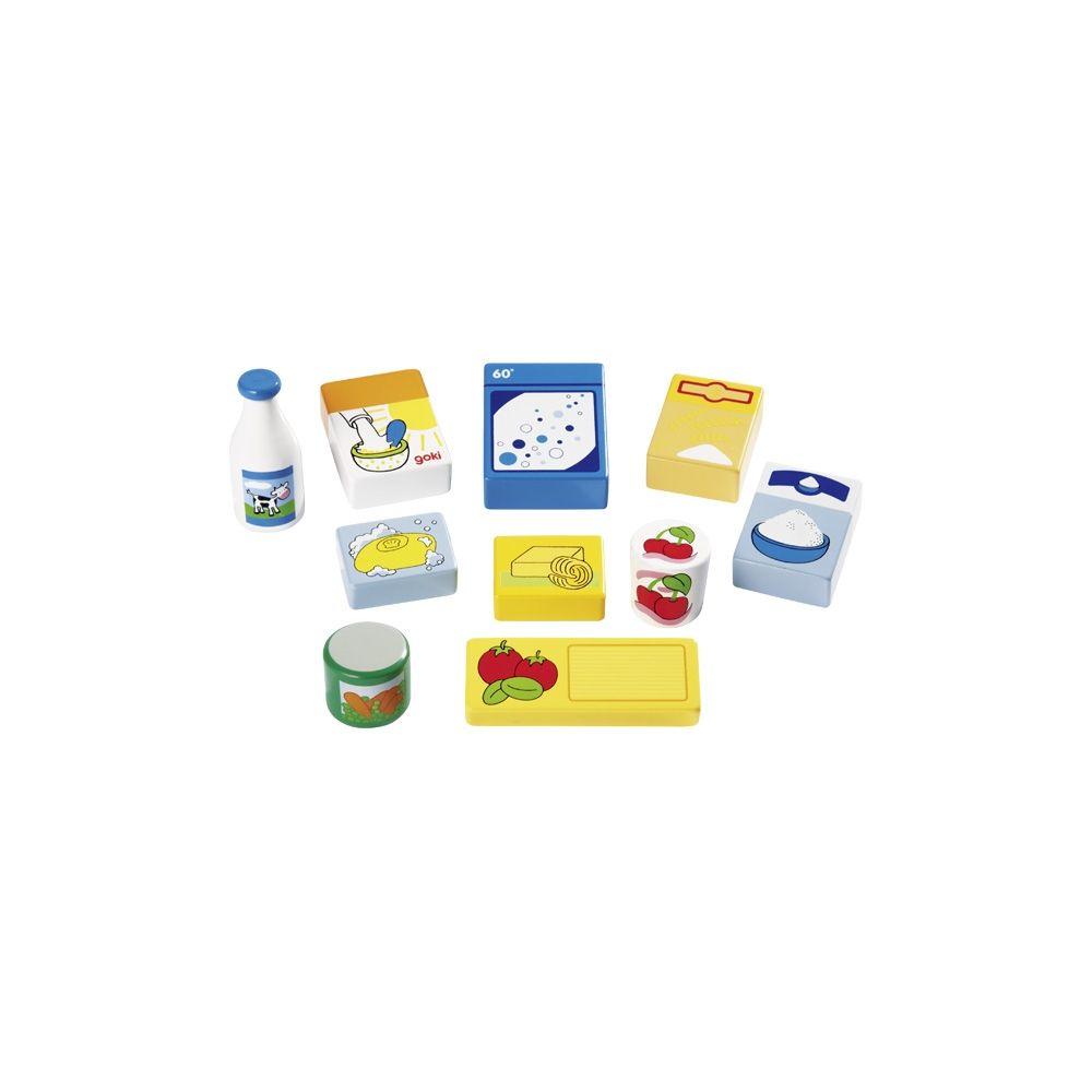 Corbeille de produits alimentaires et d'entretien Goki  Produits