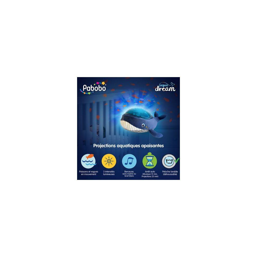 Veilleuse musicale projecteur baleine Aqua Dream Pabobo  Produits