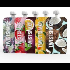 Pack de 5 gourdes réutilisable Squeeze 220 ml Twistshake  Produits