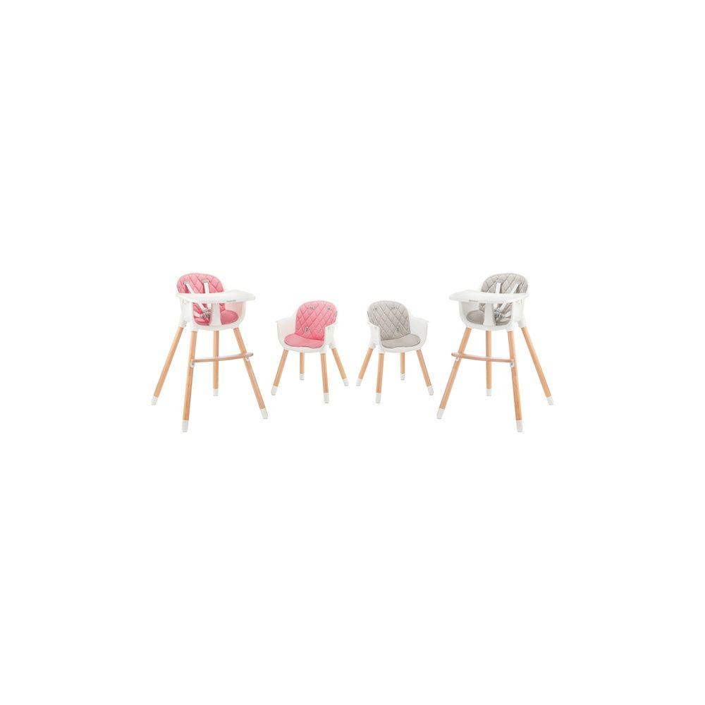 chaise haute 2 en 1 Sienna rose Kinderkraft  Produits