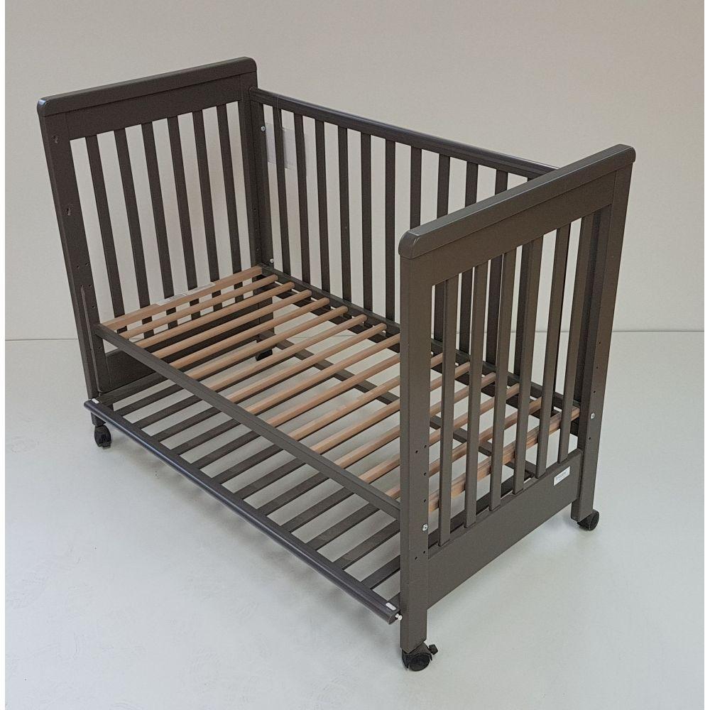Lit berceau bébé coulissant 60x120 99TR038 gris AT4  Produits