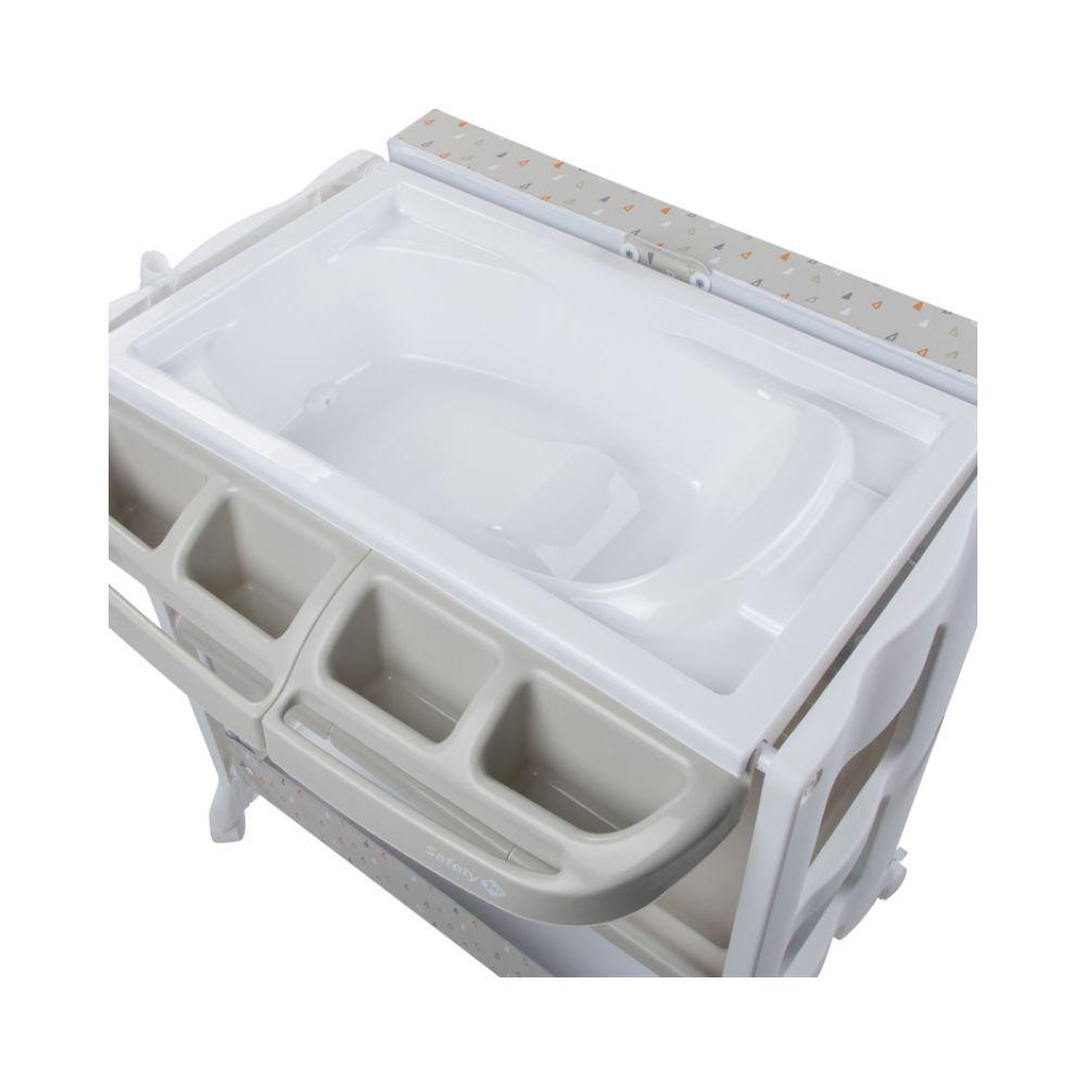 Table à langer avec baignoire Dolphy warm grey Safety first  Produits