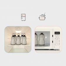 Sachet Conservation Silicone Reutilisable Haakaa (2 sachets) 260ml  Produits