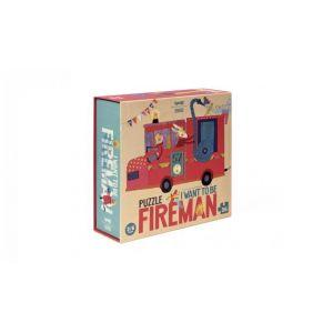 Puzzle I want to be Fireman Londji  Produits