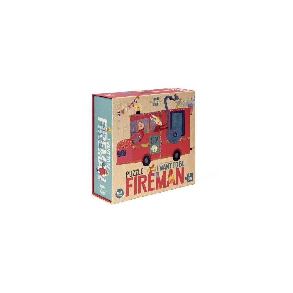 Puzzle I want to be Fireman Londji  Produits