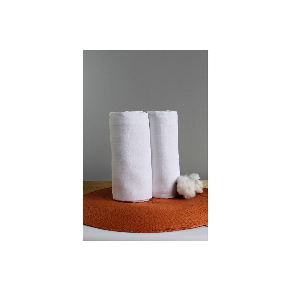 2 Maxi langes 100% coton bio unis Kadolis  Produits