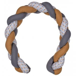 Tresse décorative multi-usages gris/blanc/camel Honeymoon  Produits