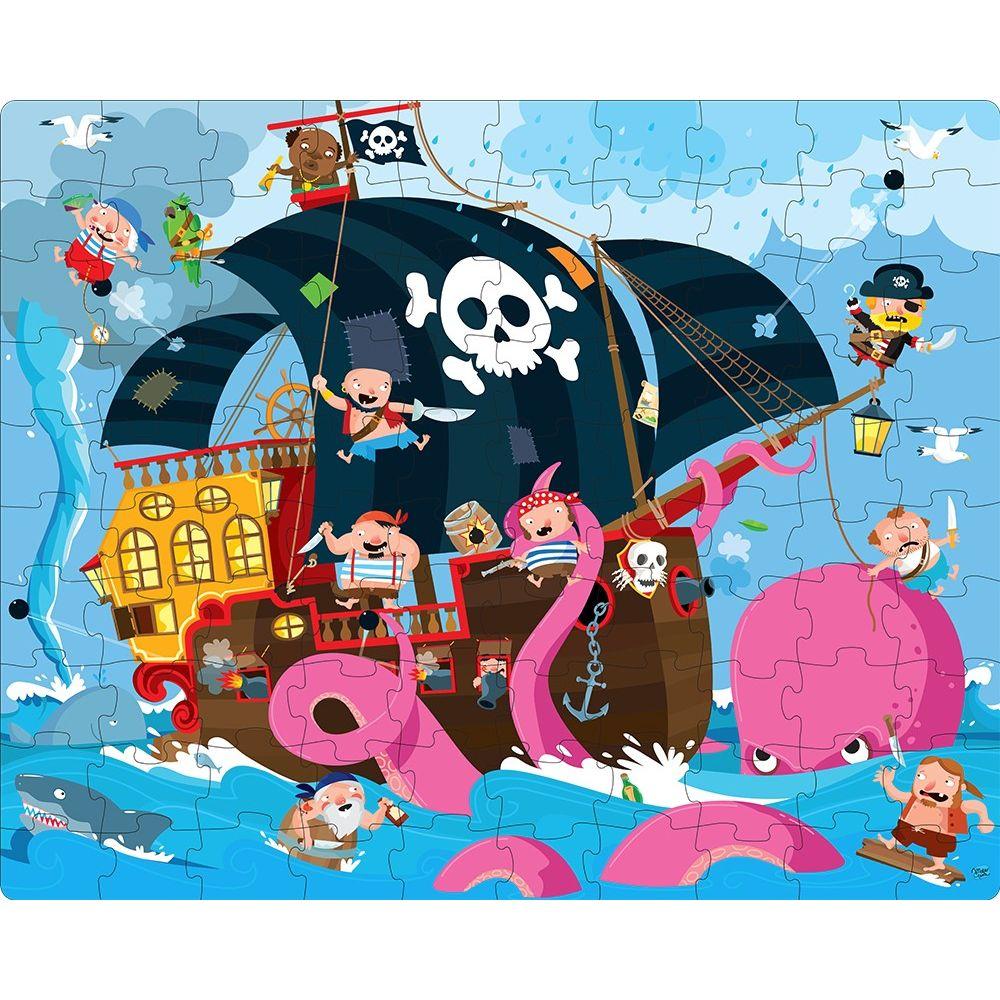 Puzzle + livre 100 pièces Pirates Sassi  Produits