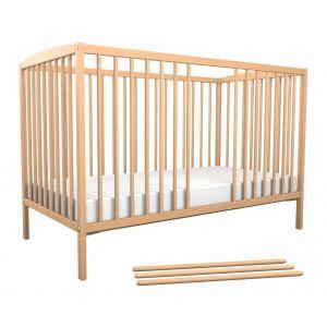 Lit bébé berceau 3 barreaux amovibles 60x120 AT4  Produits