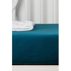 Drap housse coton bio bleu 60x120cm pour lit bébé  Produits
