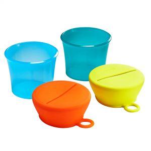 2 pots avec 2 couvercles Snug snack Boon  Accueil