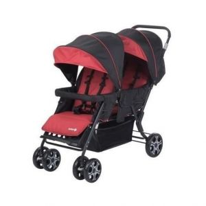 Poussette double/tandem rouge Teamy Safety First  Accueil